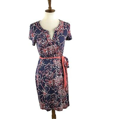 Lilly Pulitzer Dress Size Small Silk Blend Floral Blue Coral • 21$