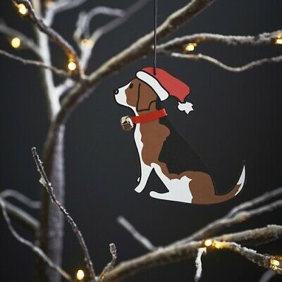 Beagle Christmas Tree Decoration/Ornament Bauble Gift/Present • 7.95£