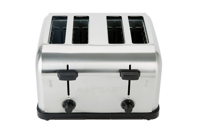 Commercial 4-Slice Toaster 1.5 Inch Slots Toasted Bread Bagels Waffles Machine • 125.40$