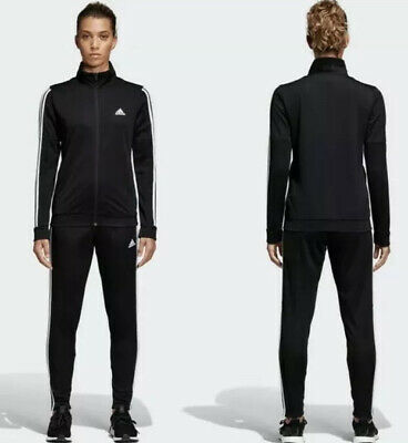 $74.95 • Buy Adidas Womens WTS Team Sports Track Suit Jacket Pant 3 Stripes DV2431 SZ XS New!