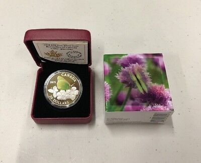 2015 Butterflies Of Canada Coin Fine Silver Royal Canadian Mint Colias Gigantea • 45.45$