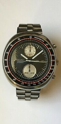 $ CDN750 • Buy Vintage UFO SEIKO 6138-0017 Automatic Chronograph Spanish Date Serviced BLACK