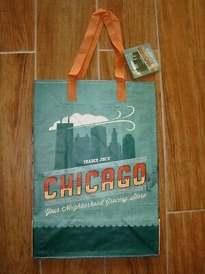 New Trader Joe's Reusable Grocery Shopping Bag Tote Chicago • 4.45$