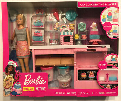 Barbie Cake Decorating Bakery Playset, Mattel, You Can Be Anything! New In Box! • 42.99$