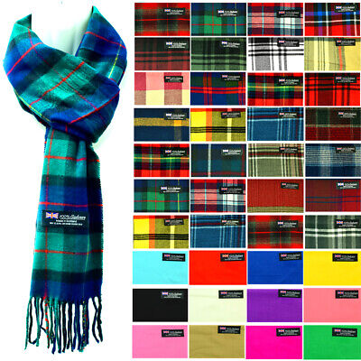 $6.99 • Buy Womens Mens Winter 100% Cashmere Plaid Check Scarves Wool Scarf Scotland Made