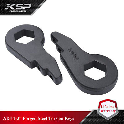 $33 • Buy Chevy Front Torsion Bar Key Forged Leveling Lift Kit 1-3'' 01-10 1500HD 2500 HD
