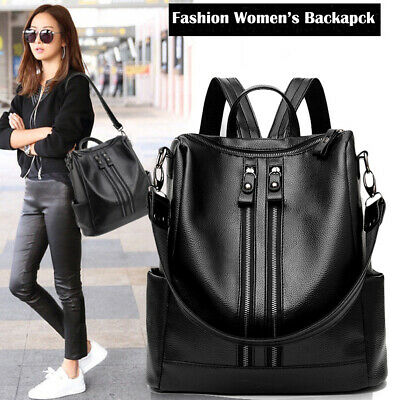 $13.99 • Buy Fashion Women Backpack PU Leather Shoulder School Rucksack Lady Girls Travel Bag