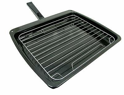 £17.59 • Buy Grill Pan Drip Tray Handle + Rack For HOTPOINT ARISTON INDESIT Oven 385 X 320mm