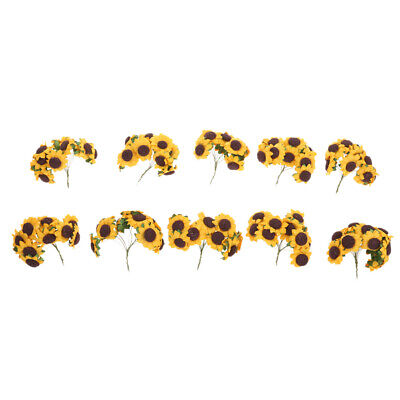 £4.64 • Buy Artificial Sunflowers For Wedding Floral Craft Paper Decoration 100Pcs/lot