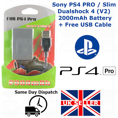 AU18.04 • Buy Playstation PS4 Pro Slim 2000mAh (2nd Gen) Replacement Battery - FREE USB CABLE