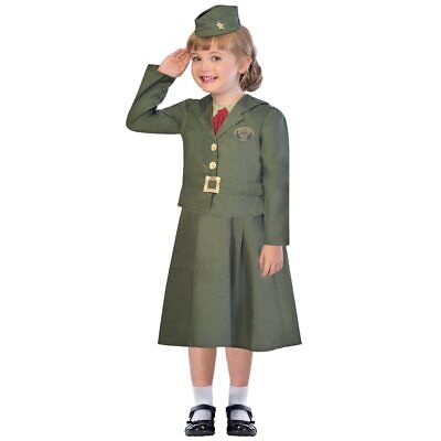 £18.02 • Buy NEW Child Girl Children WW2 Girl Soldier Costume - Age 9-10 Years History 9-10 Y