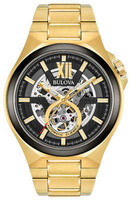 $ CDN450 • Buy New Bulova Classic Automatic Skeleton Dial Stainless Steel Men's Watch 98A178