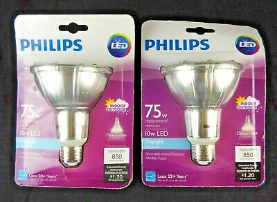 $22.44 • Buy Philips LED Classic Glass Dimmable 75W PAR16 40-Degree Spot Light Bulb 2 Pack