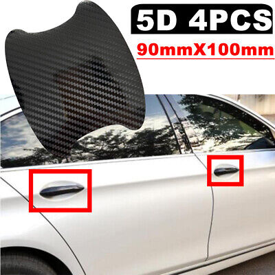 $15.10 • Buy Carbon Fiber 5D Black Vinyl Exterior Door Handle Film Cover Decals Stickers J3