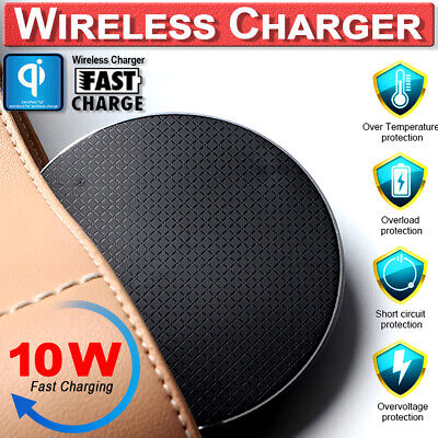 Qi Wirless Fast Charger Quick Charging Dock Pad Mat For Samsung S8 S9 Plus Note9 • 3.35£