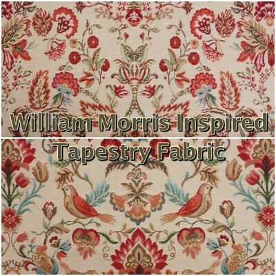 Chatham Glyn William Morris Floral Heavy Tapestry Curtain Upholstery Fabric • 13.65£