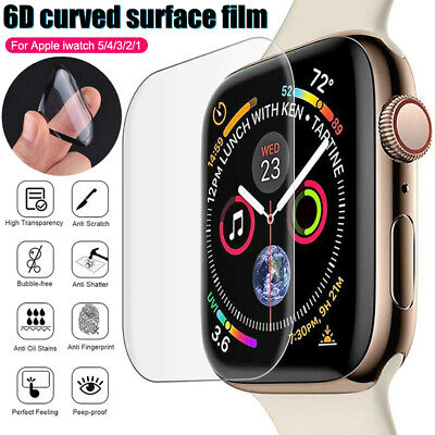 $ CDN2.43 • Buy For Apple Watch Series 5 4 3 2 6D Coverage Screen Protector Cover IWatch 40 44mm
