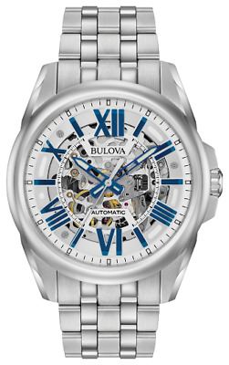 $ CDN357.21 • Buy Bulova Classic Sutton Automatic Skeleton Dial Stainless Steel Men's Watch 96A187