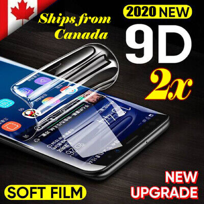 $ CDN6.99 • Buy Hydrogel Full Coverage Screen Protector Samsung Galaxy S8 S9 S10 Plus 10e Note10