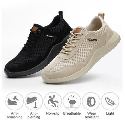 AU35.46 • Buy UK Safety Shoes Work Shoes For Men Women Steel Toe Trainers Lightweight Sports