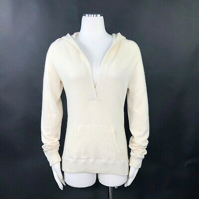 $55 • Buy Gap Women's Sweater Hooded Long Ivory Cashmere Hoodie Sweatshirt Pull Over Sz. L