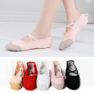 $3.22 • Buy Girl Adult Soft Canvas Ballet Dance Shoes Slippers Pointe Dance Gymnastics Charm