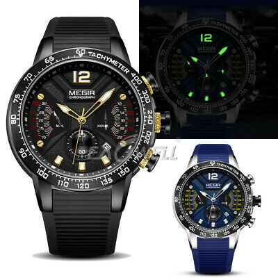 AU32.99 • Buy MEGIR Luxury Watch Men's Quartz Waterproof Watches Business Military Wrist Watch