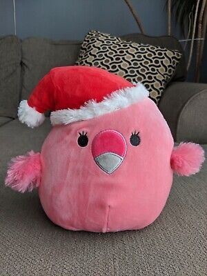 $ CDN30 • Buy Squishmallows Christmas Holiday *Franny The Flamingo* Kellytoy Squishmallow Bnwt