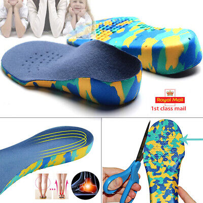 Children's Orthotic Insoles, Arch Supports, Flat Feet, Arch Pain, Boys Girls GW • 7.99£
