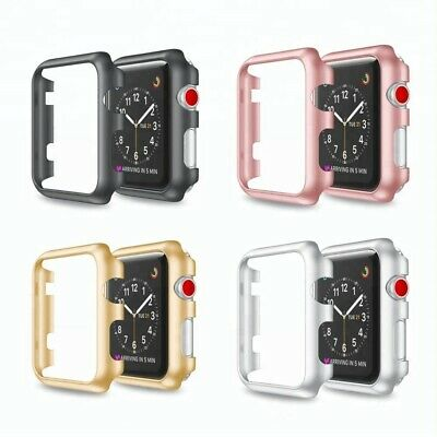 AU7.49 • Buy Hard PC Protectiv Bumper Case Cover For Apple Watch Series 2 3 4 5 6 38/40 42/44