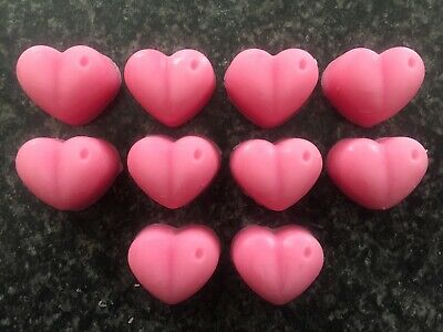 WAX MELT 10 X HEARTS PERFUME SCENTS ❤️ Highly Scented Soy Wax • 1.99£