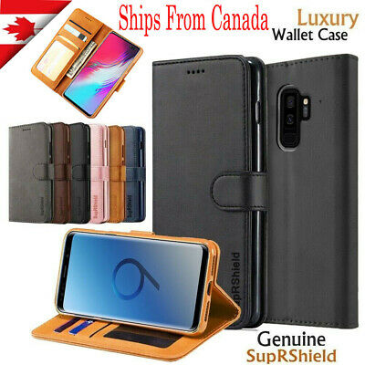 $ CDN9.99 • Buy For Samsung Galaxy S10 S9 S8 Plus S10E Note 9 10+ Wallet Leather Flip Case Cover