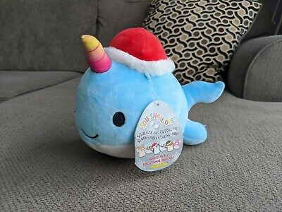 $ CDN18 • Buy Squishmallows 8 Inch Christmas Holiday * Wally The Narwhal * Squishmallow Bnwt