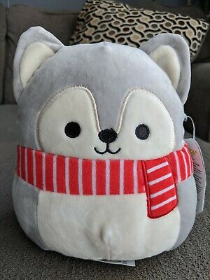 $ CDN18 • Buy Squishmallows 8 Inch Christmas Holiday ** Tilman The Husky ** Wolf Squishmallow