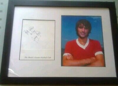 143 -  Signed George Best Framed Picture (Signed To Tony) • 120£