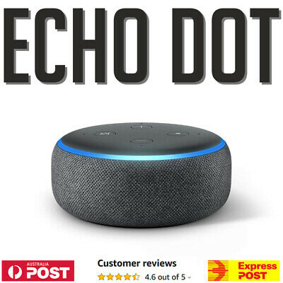 AU80.99 • Buy Amazon Echo Dot (3rd Gen) Voice Assistant With Alexa - Charcoal - AU STOCK!