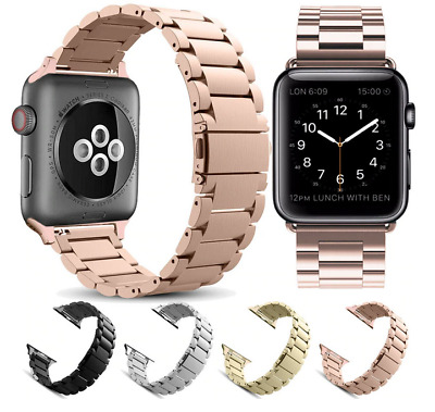 $ CDN15.56 • Buy For Apple Watch Series 1/2/3/4 38/40/42/44MM Strap Stainless Steel Watch Bands