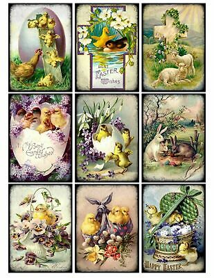 Easter Spring Flowers & Chicks Glossy Finish Card Making Toppers / Embellishment • 3.25£