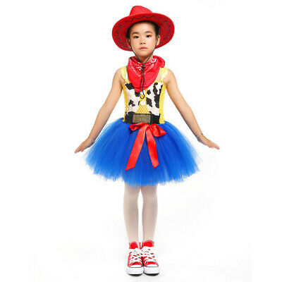 Girls Dress Toy Story Woody Fancy Dress Kids Costume Cosplay Outfit Set  • 15.99£