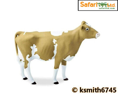 £7.45 • Buy Safari GUERNSEY COW Solid Plastic Toy Farm Pet Dairy Animal Cattle * NEW *💥