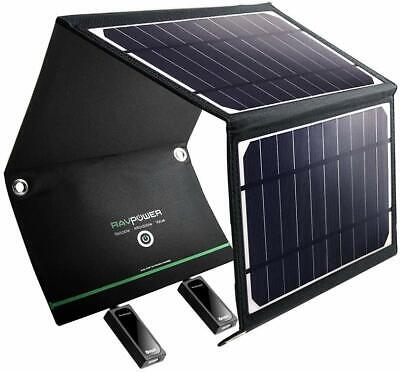 AU109.99 • Buy RAVPower 16W Solar Panel 2 USB Port Waterproof Foldable Portable Charger - CHEAP