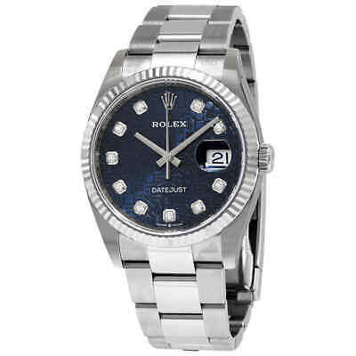 $ CDN14338.99 • Buy Rolex Datejust 36 Blue Jubilee Diamond Dial Ladies Oyster Watch 126234BLJDO