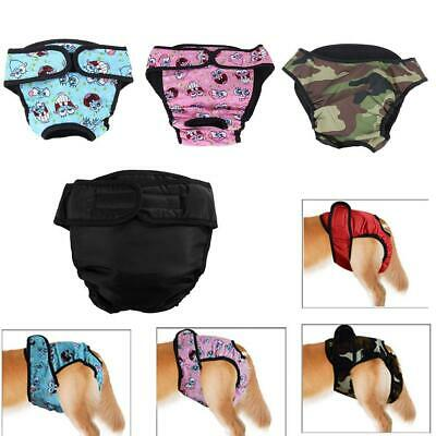 Washable Underwear Puppy Dog Cat Diaper Pants Physiological Sanitary Short Panty • 4.49£