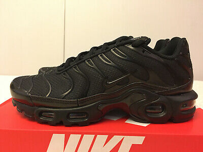 $119.99 • Buy Nike Air Max Plus Triple Black Running Shoes [604133-050] Men's Sz 6.5 Women's 8