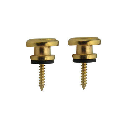 $ CDN5.92 • Buy 2PCS Gold Metal Mushroom Strap Lock Buttons End Pin Pegs Screw For Guitar Bass