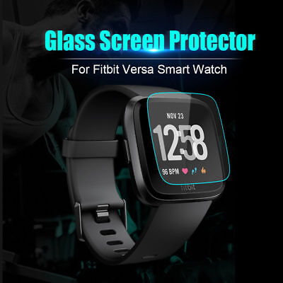 $ CDN3.51 • Buy 3-Pack For Fitbit VERSA Watch Tempered Glass Screen Protector Saver Shield Guard