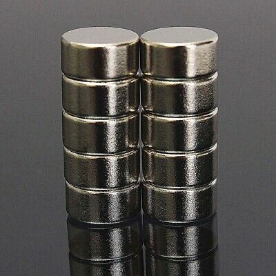 AU8.99 • Buy 10Pcs N52 10mm X 5mm  Super Strong Cylinder Round Rare Earth Neodymium Magnets
