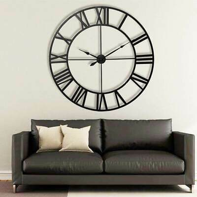 £23.79 • Buy 60CM Extra Large Roman Numerals Skeleton Wall Clock Big Giant Open Face Round UG