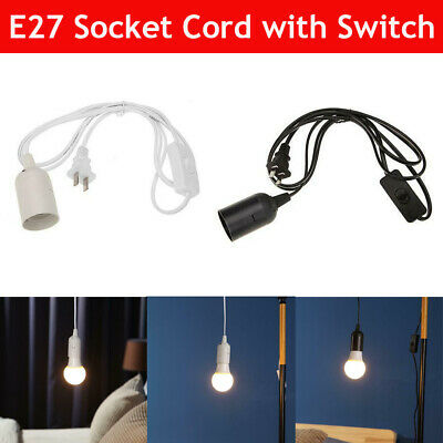 $3.58 • Buy E27 Bulb Socket Extension Hanging Pendant Light Lamp Cord Cable Wire With Switch