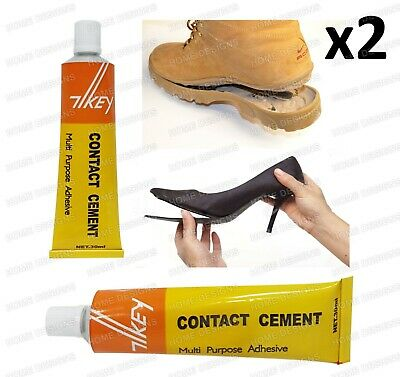 Contact Cement Glue Adhesive Rubber Leather Fabrics Sole Heel Shoe Repair • 2.95£